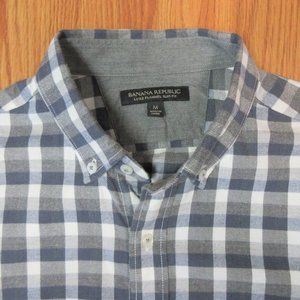 BANANA REPUBLIC FLANNEL SLIM FIT 100% COTTON SHIRT